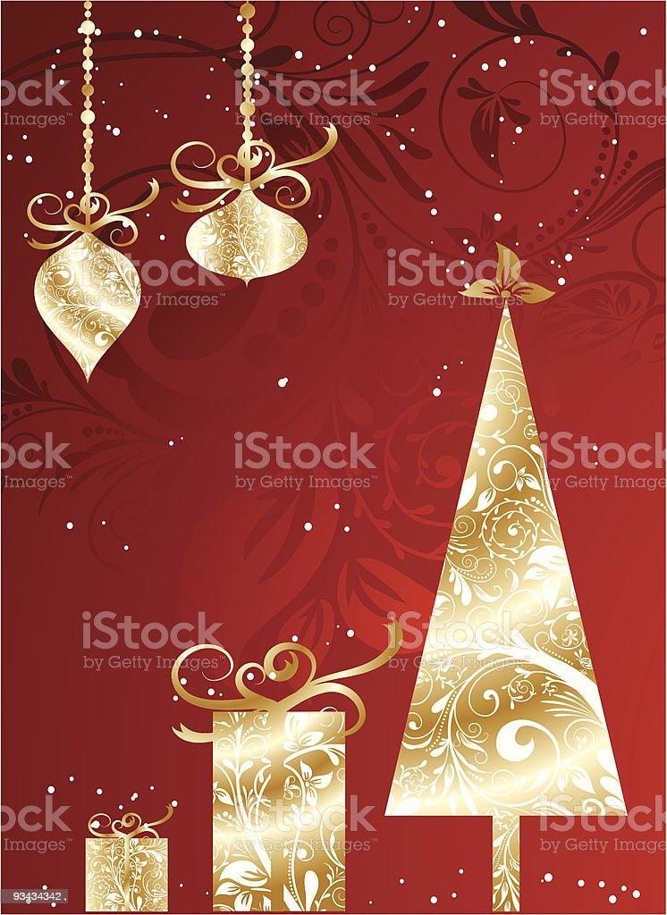 Weihnachtskarte mit ornament Lizenzfreies weihnachtskarte mit ornament stock vektor art und mehr bilder von abstrakt