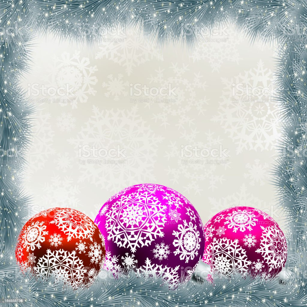 Christmas card with balls. EPS 8 royalty-free stock vector art