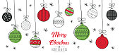 istock Christmas card with baubles 1184655651