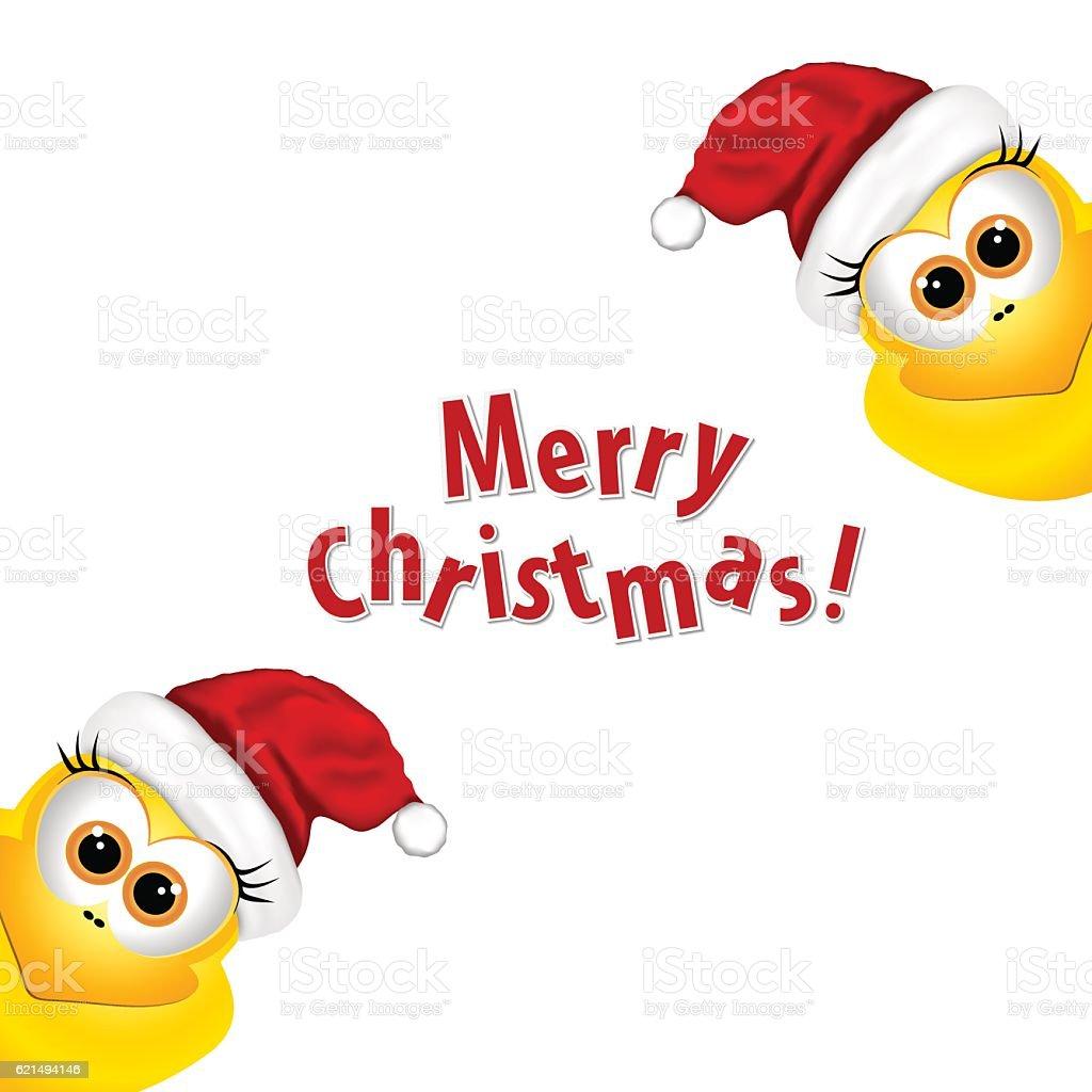 Christmas card with chickens in Santa hat. Rooster symbol New christmas card with chickens in santa hat rooster symbol new – cliparts vectoriels et plus d'images de bec libre de droits