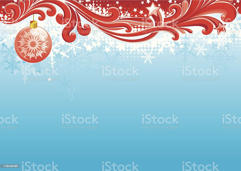 christmas card with copy space for text royalty-free stock vector art