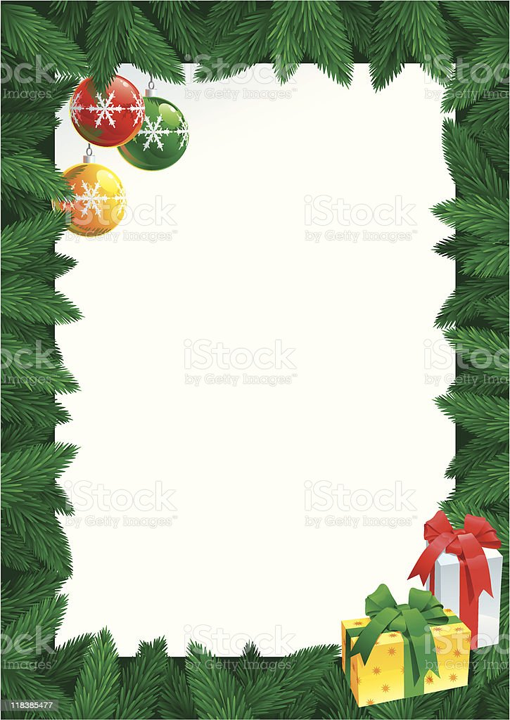 christmas card with empty blank for text royalty-free stock vector art