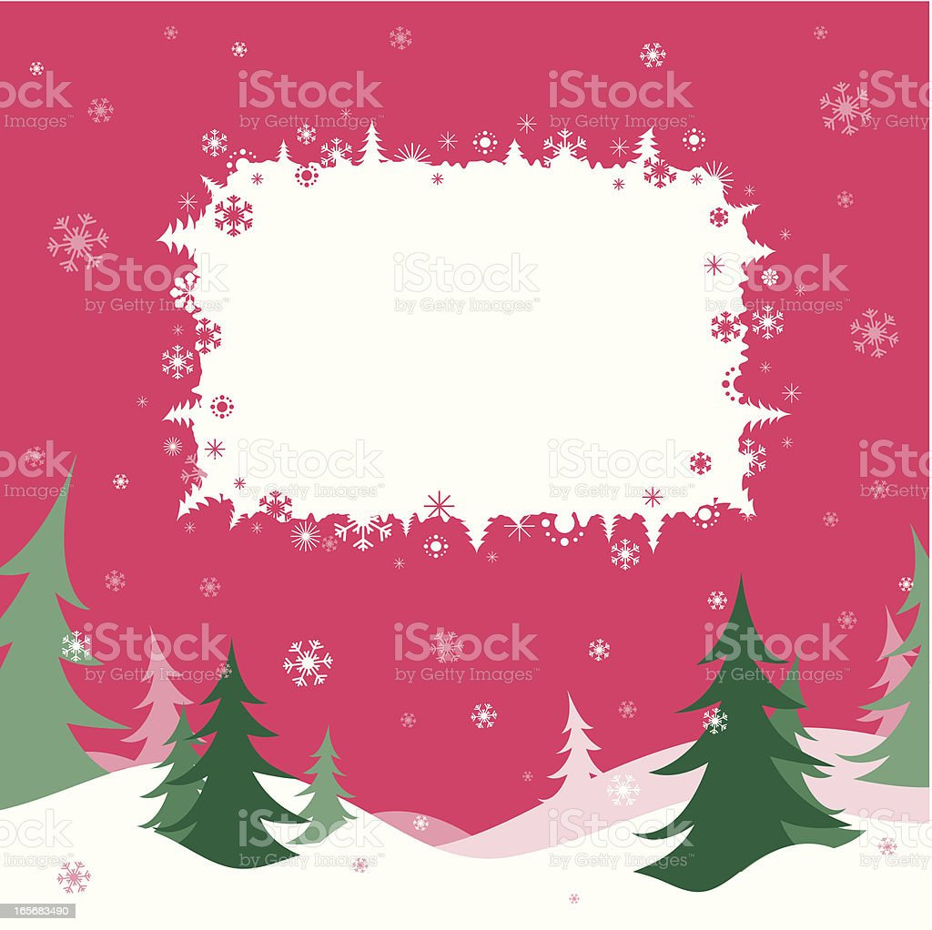 Christmas card with fir trees royalty-free stock vector art