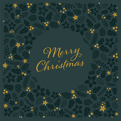 Christmas Card with Frame.