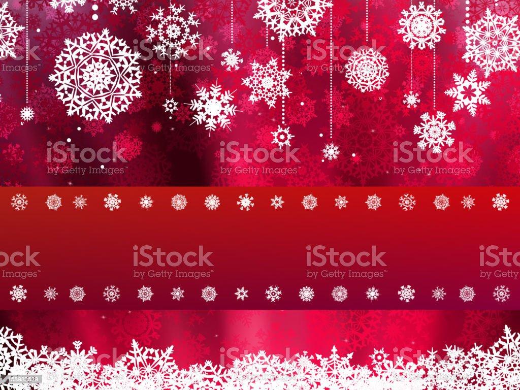 Christmas card with red snowflake. EPS 8 royalty-free christmas card with red snowflake eps 8 stock vector art & more images of abstract