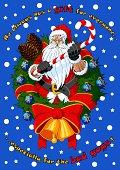 istock Christmas card with Santa Claus 158271609