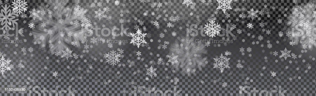 Christmas card with snow flake isolated on transparent background....