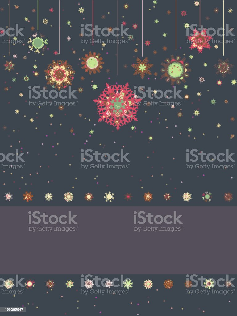 Christmas card with snowflakes. EPS 8 royalty-free stock vector art