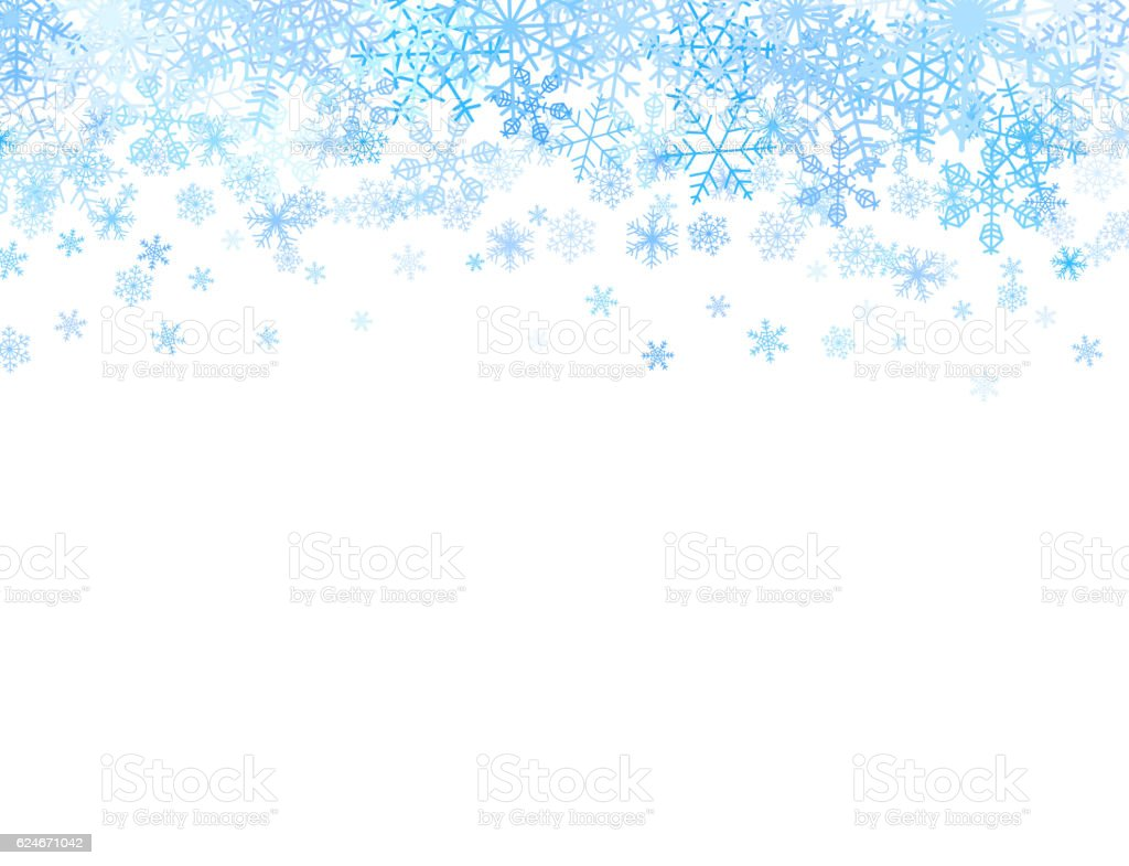 Christmas card with snowflakes on top vector art illustration