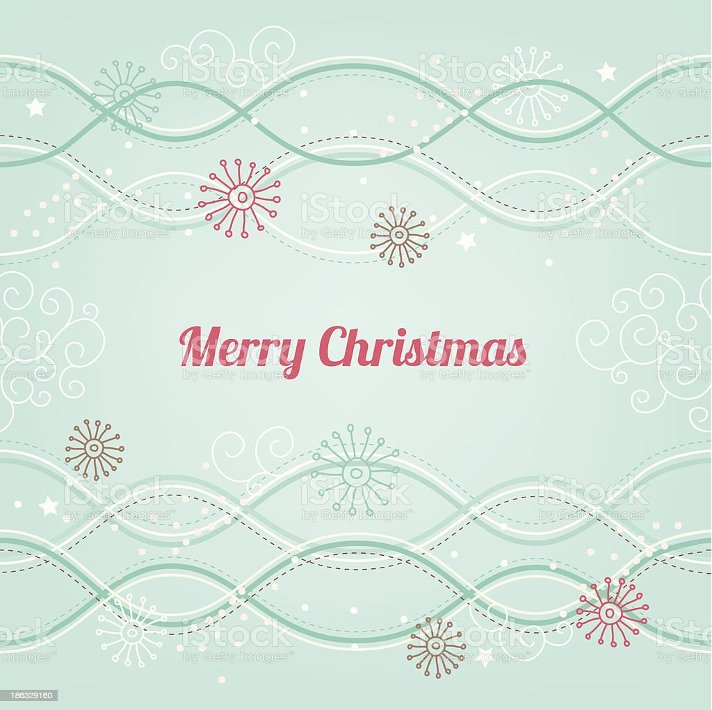 Christmas card with snowflakes royalty-free stock vector art