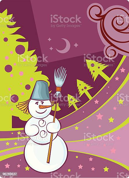 Christmas Card With The Snowmen Stock Illustration - Download Image Now