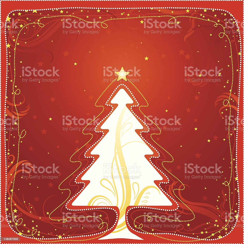 christmas card with tree royalty-free christmas card with tree stock vector art & more images of abstract
