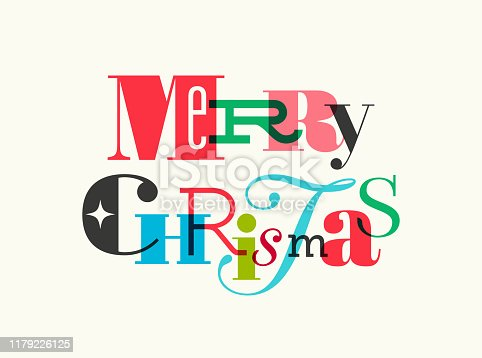 istock Christmas Card with Typography Greetings 1179226125