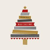Christmas card with Washi Tape - Illustration