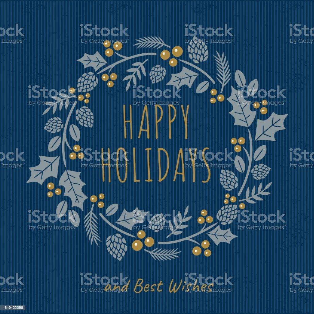 花輪のクリスマス カード ベクターアートイラスト