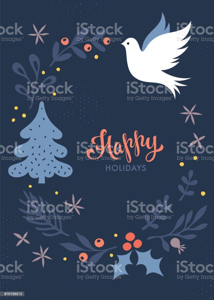 Card_01 de Navidad - ilustración de arte vectorial