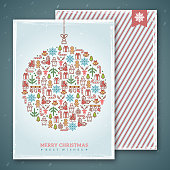 Christmas cards design. Vector illustration. New year greetings.