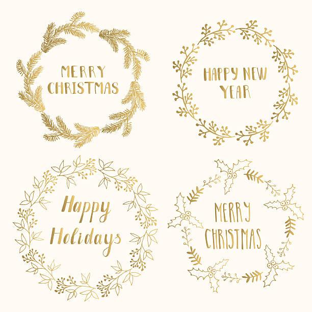 christmas cards template - holiday and seasonal icons stock illustrations