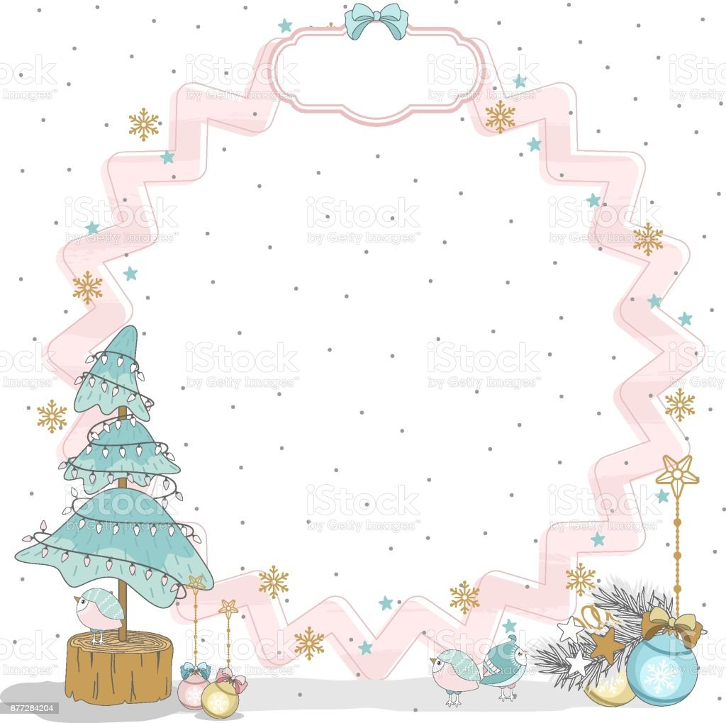 christmas cards to scrapbook new year elements vector illustration royalty free christmas