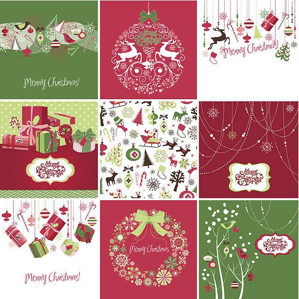 Christmas Cards vector art illustration