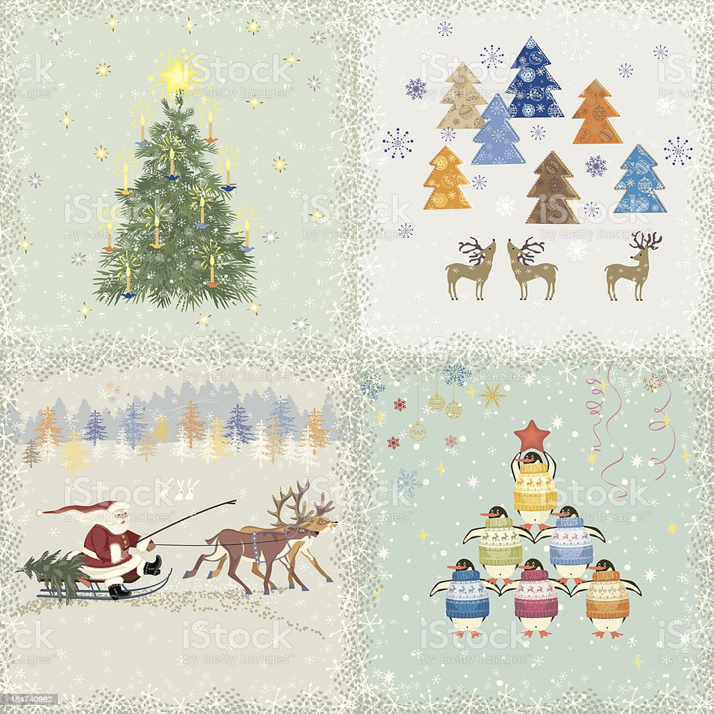 Christmas cards royalty-free stock vector art