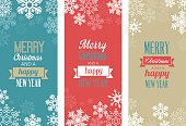 Three vintage Christmas greetings cards for web or print