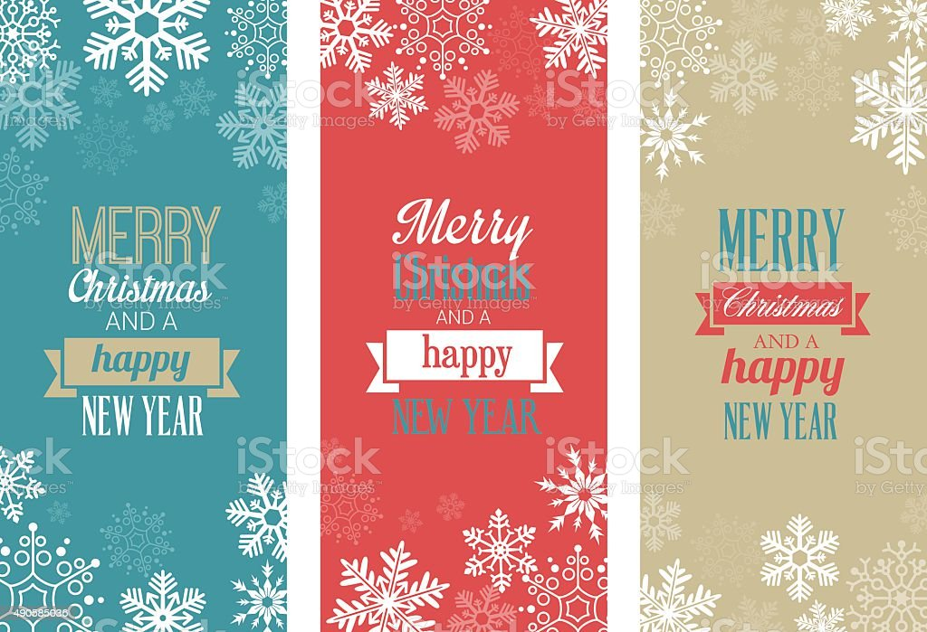 Christmas Cards vector art illustration