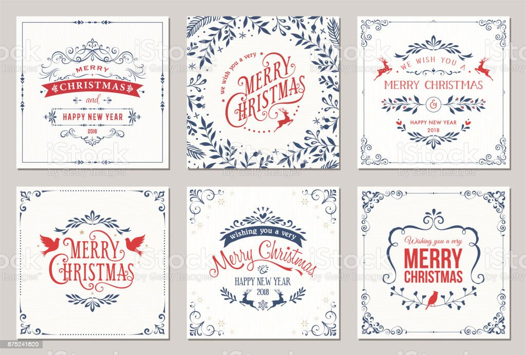 Cartes de Noël cartes de noël vecteurs libres de droits et plus d'images vectorielles de affiche libre de droits