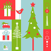Vector background with Christmas tree.Vector illustration.