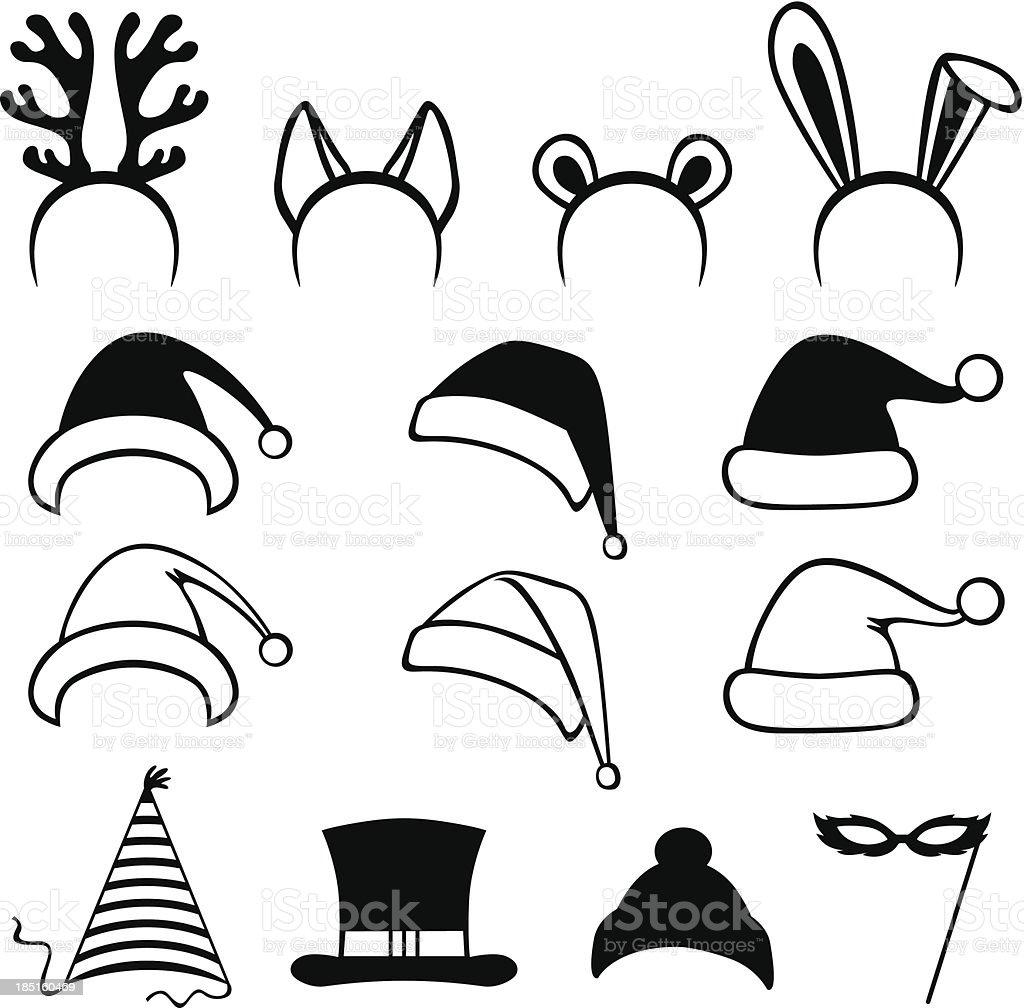 Christmas carnivals hats royalty-free stock vector art