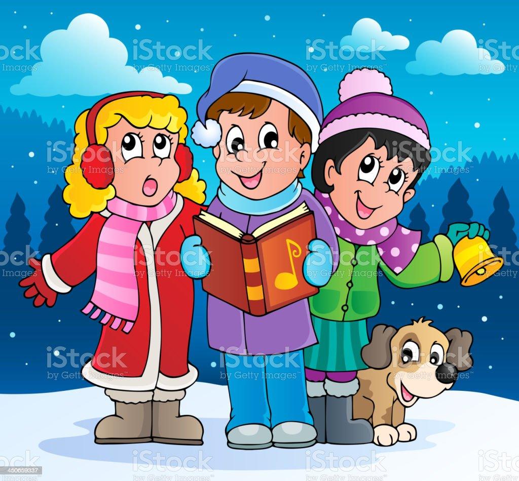 Christmas carol singers theme 2 royalty-free christmas carol singers theme 2 stock vector art & more images of art