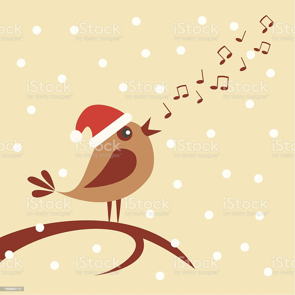 Christmas carol vector art illustration