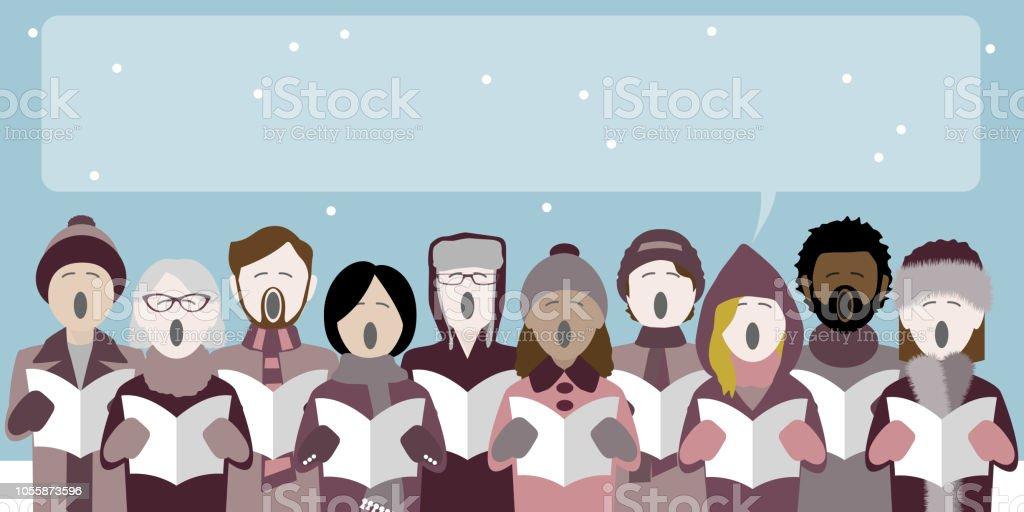 Christmas Carolers Stock Illustration Download Image Now Istock