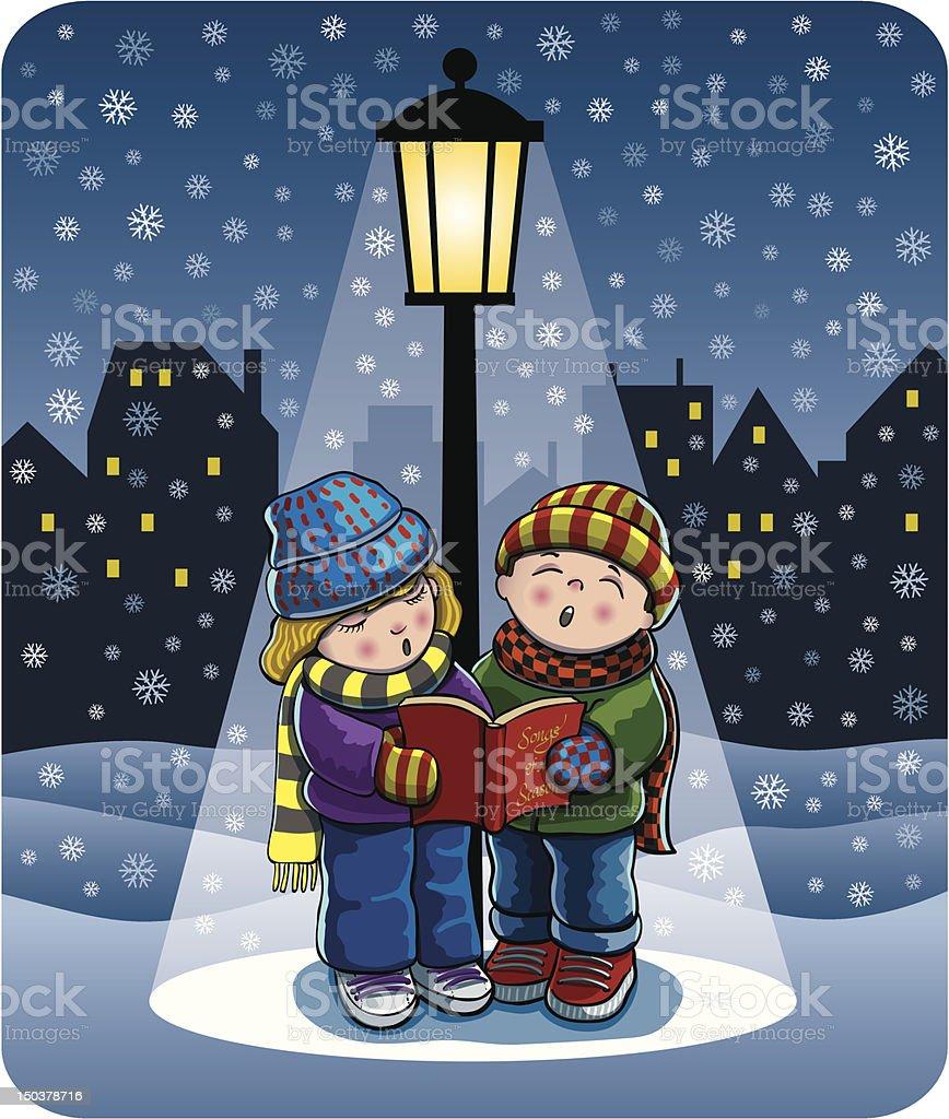 Christmas Carolers royalty-free christmas carolers stock vector art & more images of cap