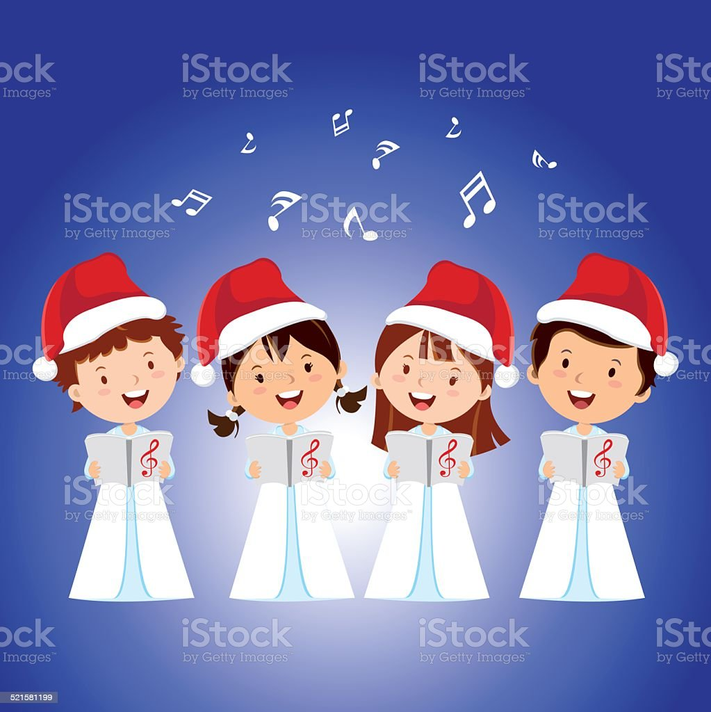 Christmas Carols vector art illustration