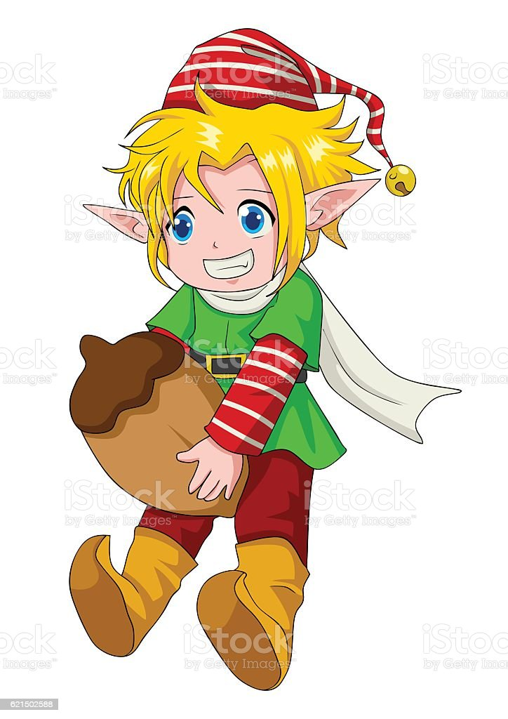 Christmas Cartoon Elf Boy christmas cartoon elf boy – cliparts vectoriels et plus d'images de avatar libre de droits