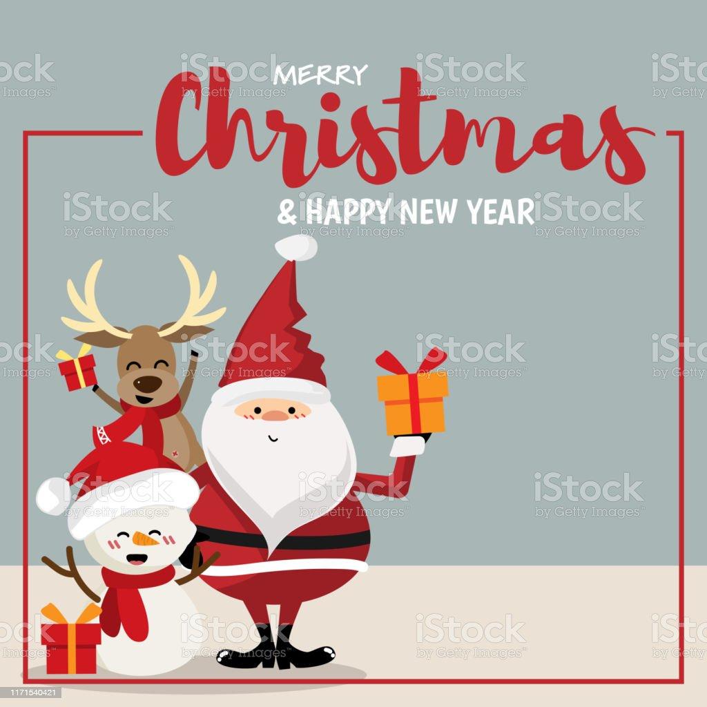 Ilustración De Dibujos Animados Navideños De Santa Claus