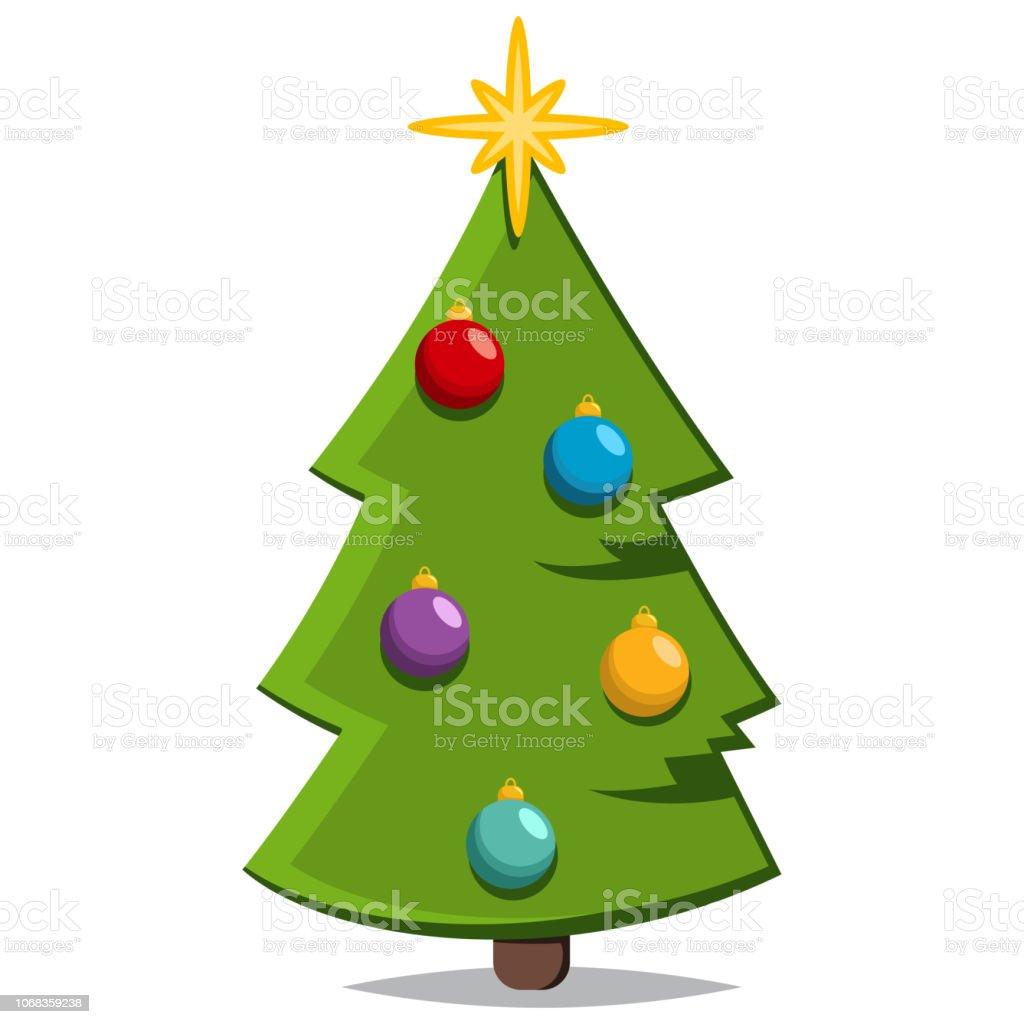 Imagenes Animadas Arboles Navidad.Ilustracion De Arbol De Dibujos Animados De Navidad Habia