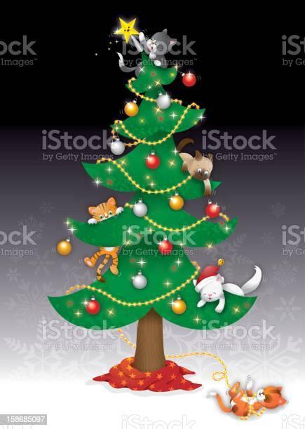 Christmas cats in tree vector id158685097?b=1&k=6&m=158685097&s=612x612&h=q58g3rfjv46qgoe5deuduzdoxk skiezffby0xpys9w=