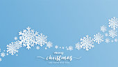 Christmas Celebration background with snowflakes in paper cut style. Vector illustration design for backdrop, wallpaper, banner, brochure, cover, advertising display.