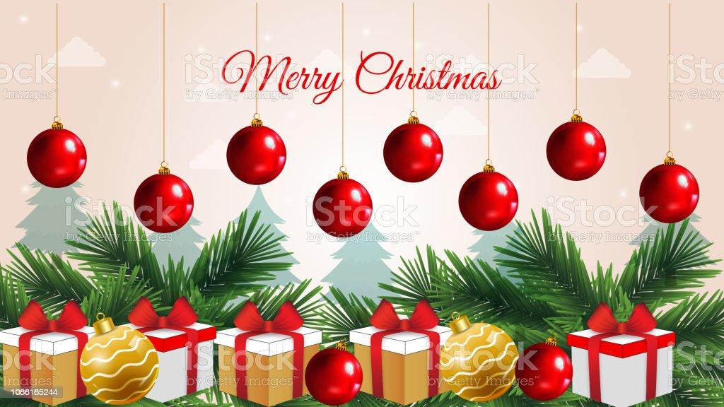 Christmas Celebration Decoration Background For Cards