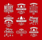 istock Christmas celebration labels 1054637412