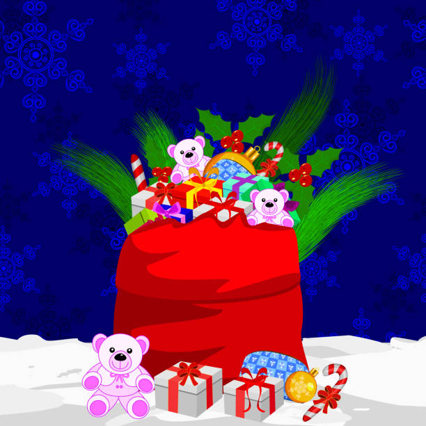 Christmas Celebration Christmas Celebration in this file clipping mask yes, all elements separate grouped and separate layered and easy to edit christmas teddy bear stock illustrations