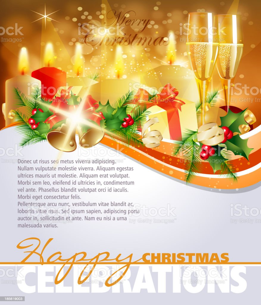 Christmas Celebrations Background royalty-free stock vector art