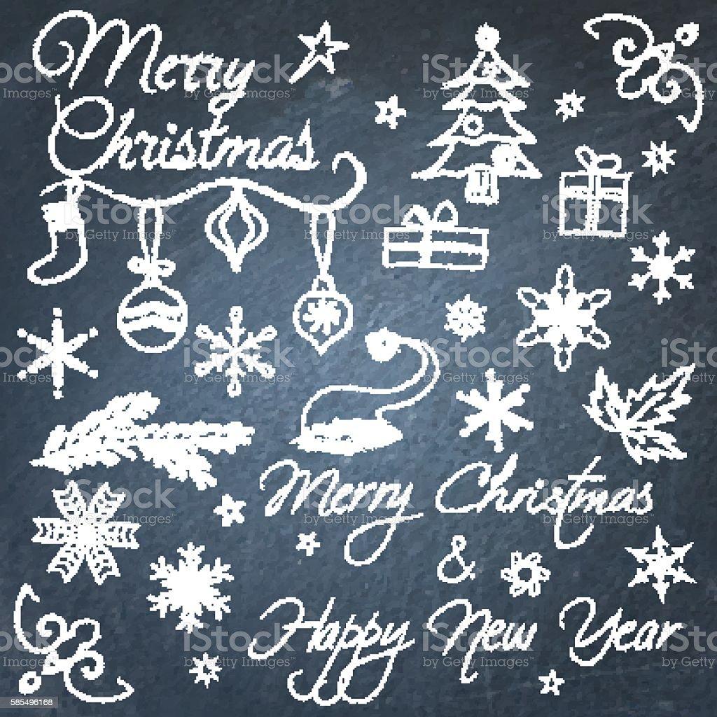 Christmas Chalkboard Art.Christmas Chalkboard Elements Stock Vector Art More Images