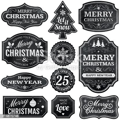istock Christmas Chalkboard Labels 616870746