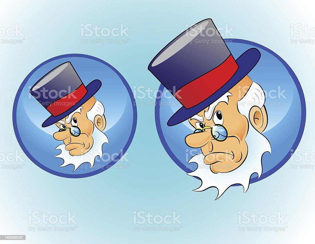 Weihnachten Zeichen Symbol Ebenezer Scrooge Vektor Illustration ...