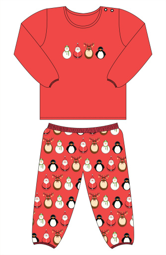 Christmas Character Pyjamas in Red