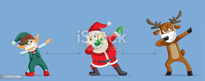 istock Christmas Characters Social Distancing During Pandemic Outbreak 1279422064