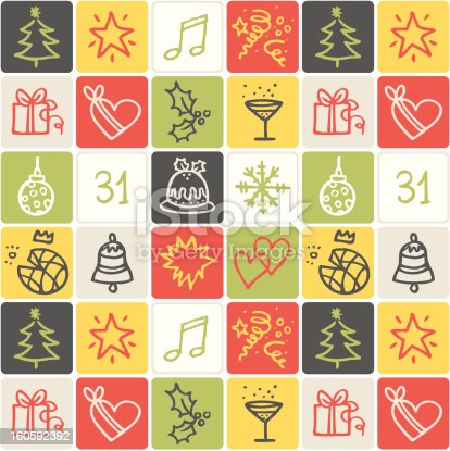 vector hand drawn icons - CHristmas
